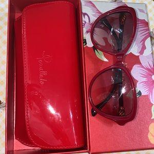 David Yurman Waverly Spiritual Bead Sunglasses Red